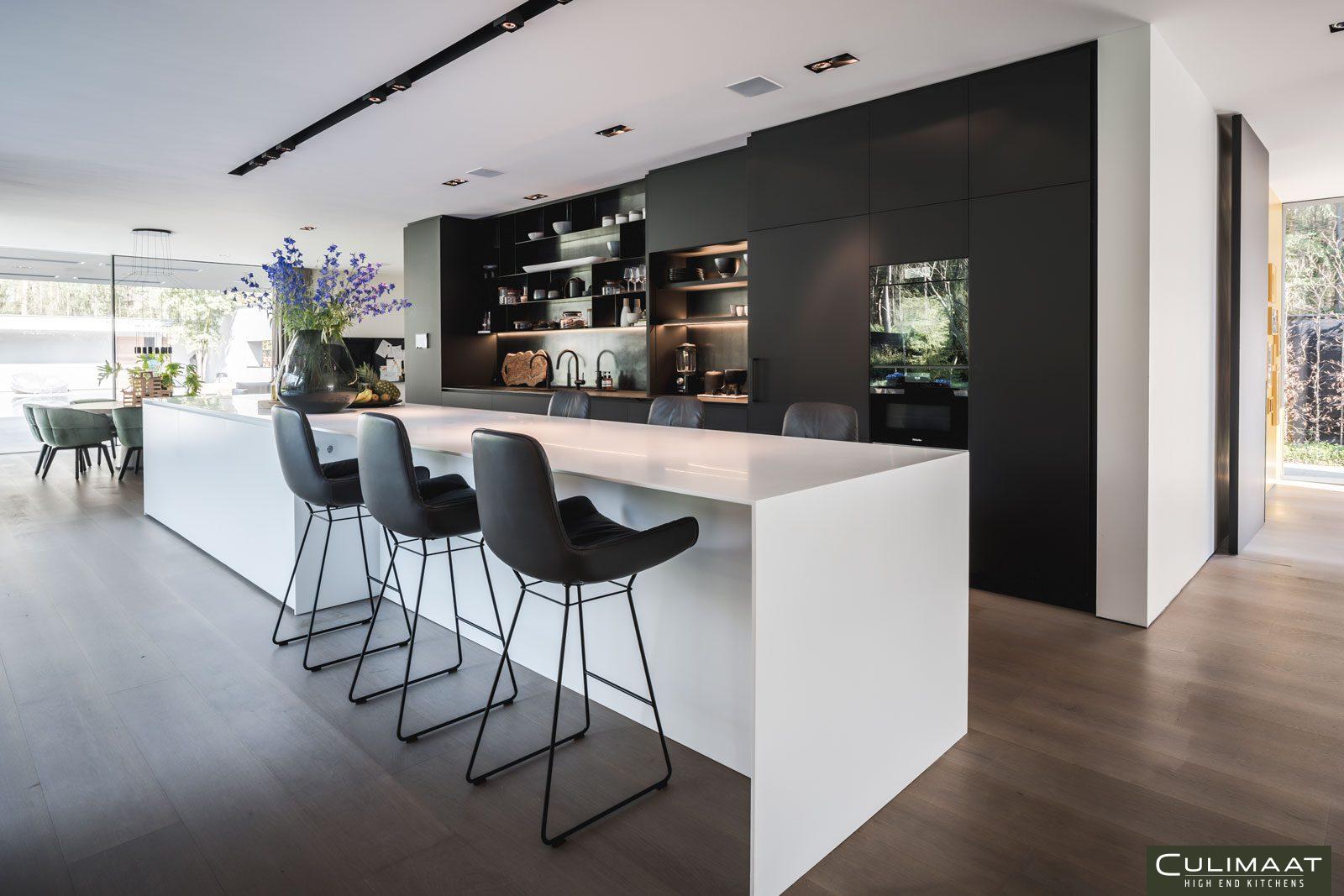 zwart wit kleuren, culimaat, keukeninspiratie, keuken
