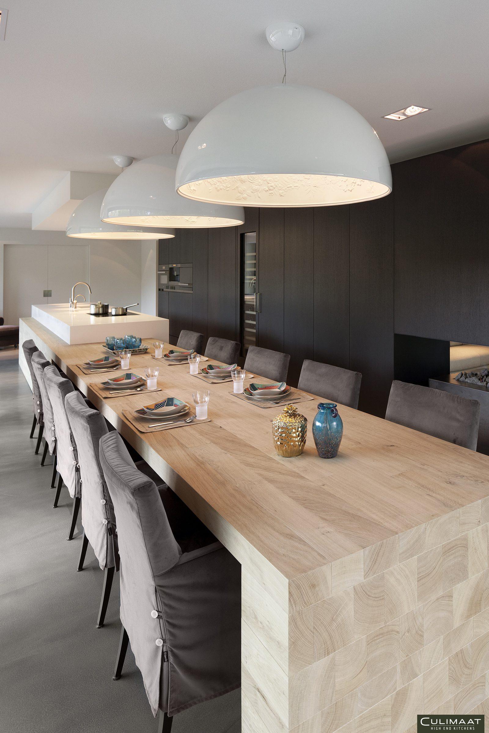 Houten keuken, Culimaat, Uniek design, moderne leefkeuken, stijlvolle keuken